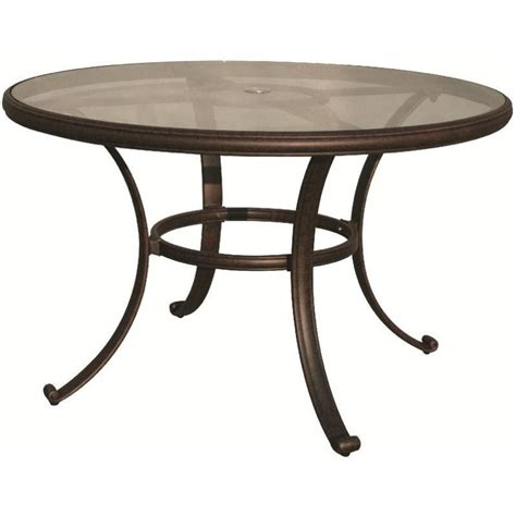 Antique Bronze Table L by Darlee 48 Quot Patio Dining Table With Glass Top In