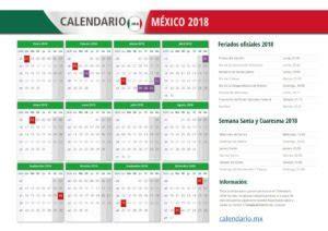Calendario 2018 Oficial Calendario 2018 M 201 Xico Todos Los Feriados Y Festivos En