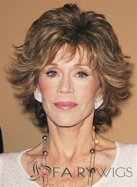 Jane Fonda Hairstyle Wigs | mysterious jane fonda short wavy capless real human hair