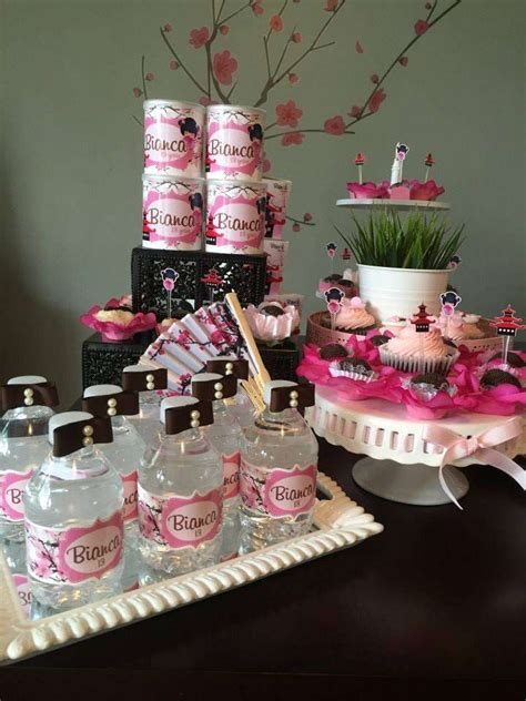 japanese cherry blossom birthday party ideas photo
