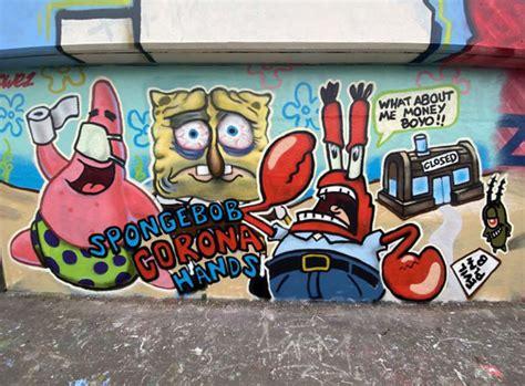 street art blossoms  empty streets  coronavirus