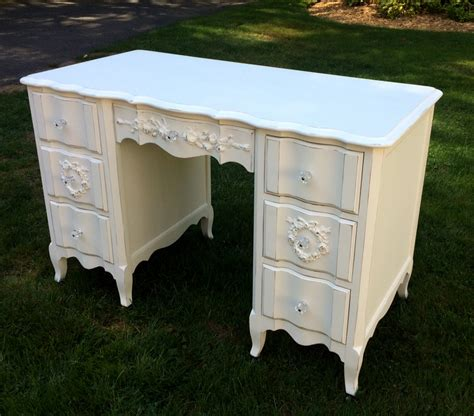 shabby chic provincial shabby chic white painted desk with roses