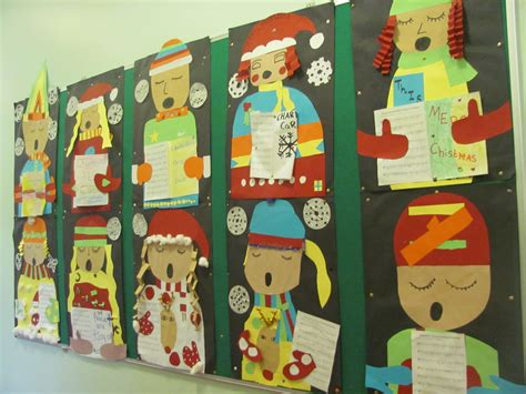 chridtmas craft 5th grade carol singers by 5th 6th charleville national school