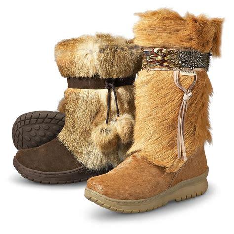 fur boots s bearpaw 174 kola goat fur boots chestnut 166756
