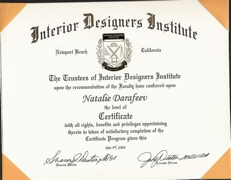 custom home plans interior design certification