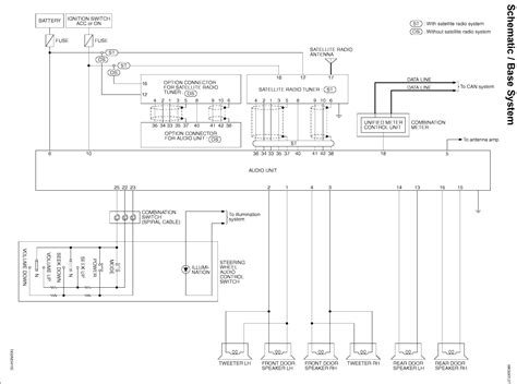 infiniti  audio wiring diagrams