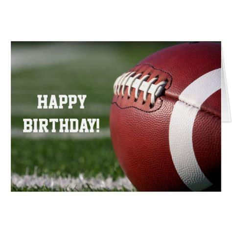 Football Birthday Cards To Make Custom Football Happy Birthday Greeting Card Zazzle