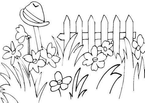 Garden Of Coloring Pages Home Design Ideas Garden Clipart Black And White
