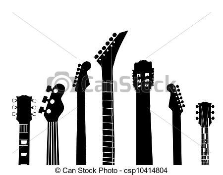 Handle Gitar 2 By Prezto stock illustration of guitar handles silhouettes of