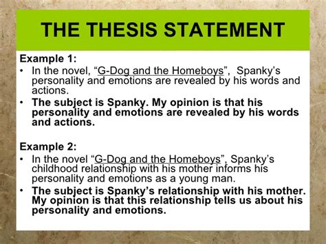 thesis statement writing thesis statements