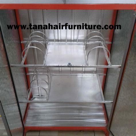 Rak Piring Box rak piring aluminium box 2 pintu warna orange