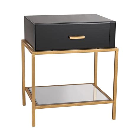 table leaf storage titan lighting black and gold leaf storage side table tn 892423 the home depot