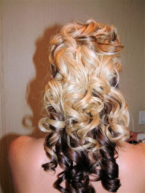 hairstyles curly half up prom hairstyles curly half up