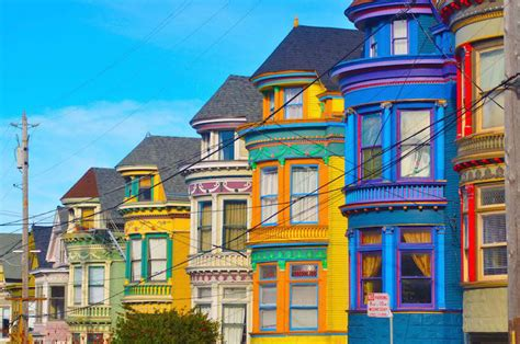 san francisco colorful houses travel photography photos of the most colorful cities