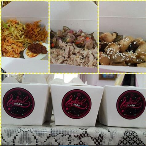 menu masakan ala soulful rice box  enaknya meresap