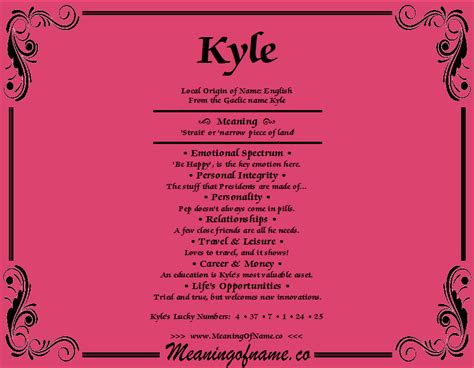 what does the name kyle meaning of name