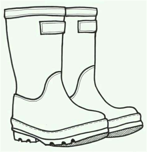 simple boots drawing art for kids pinterest craft