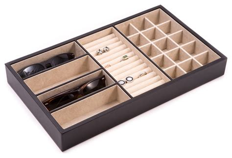 Leather Dresser Valet by Leather Valet Tray Traditional Dresser Valets And