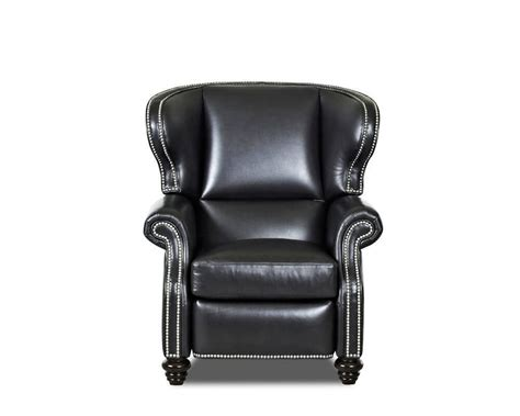 wingback reclining chairs wingback leather recliner american made cl735