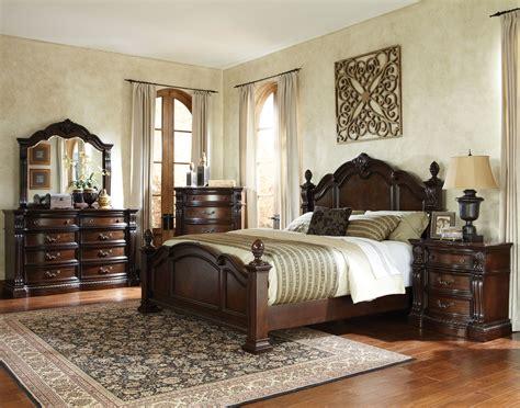 churchill traditional brown hardwood master bedroom set