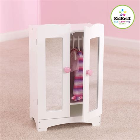 Baby Doll Armoire by Kidkraft Lil Doll Armoire White Walmart