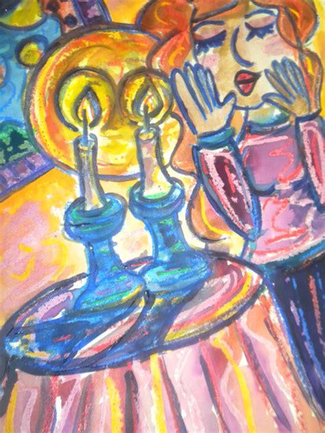 sabbath candle lighting lighting shabbat candles judaica
