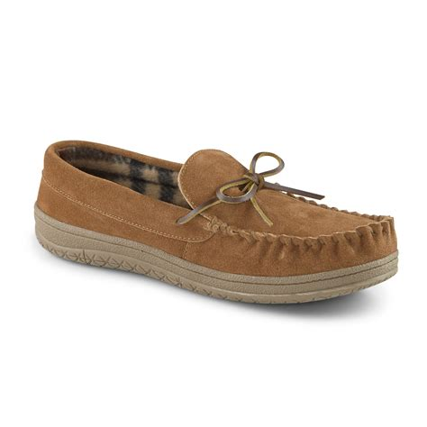 trapper slippers roebuck co s paxton suede trapper moccasin slippers