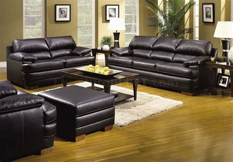 bonded leather sofa and loveseat onyx bonded leather contemporary sofa and loveseat set