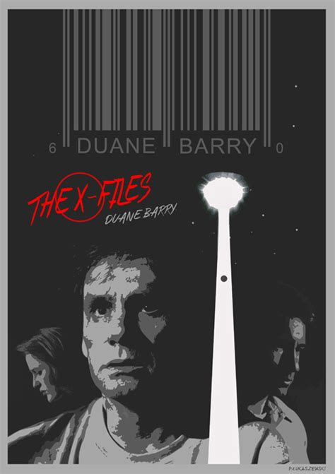 Xfiles Plakat by The X Files Duane Barry Poster By P Lukaszewski