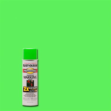 rust oleum professional 15 oz 2x fluorescent green