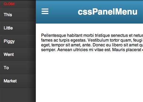 css layout menu left off canvas menu with css target css tricks