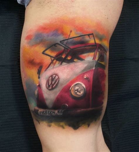 vw cervan tattoos designs vw cer on s arm best ideas designs