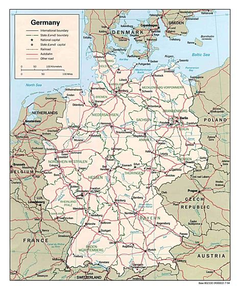 road map of germany detailed administrative and road map of germany germany