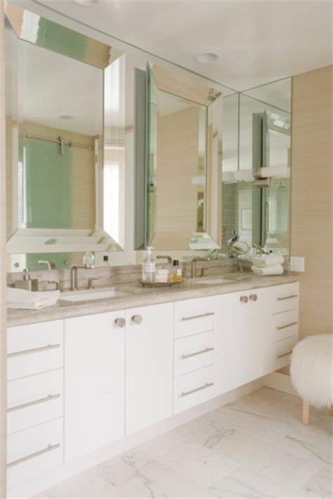 beveled mirror bathroom beveled bathroom mirror contemporary bathroom maison