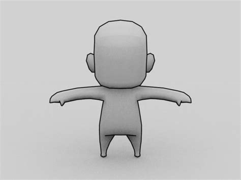 3d character template 3d anime chibi character template model