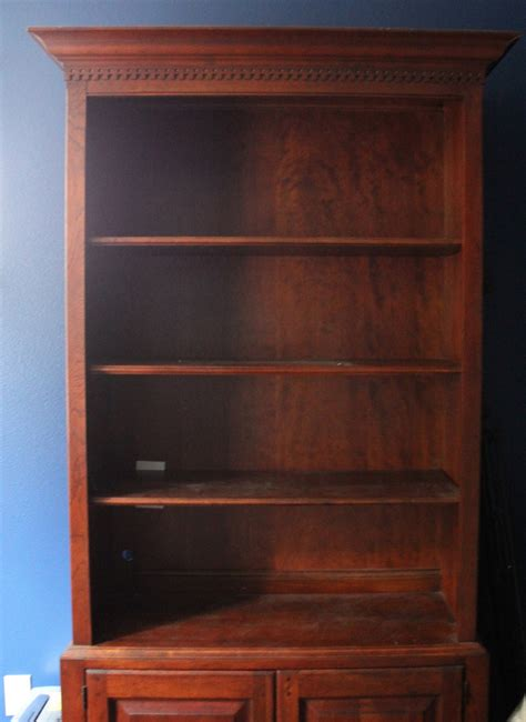 Lighten Up A Dark Bookcase Without Paint Home Office How To Paint A Bookcase White