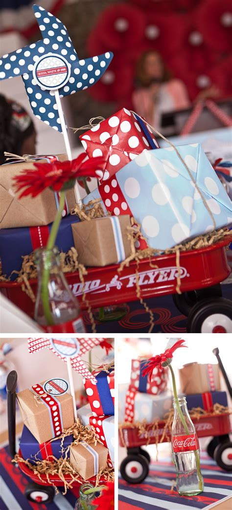gift wraps  anders ruff red wagon party  red