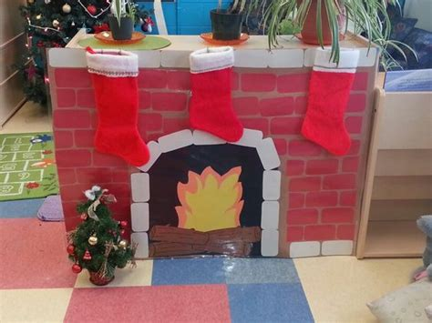 fireplace for the children all made out of construction