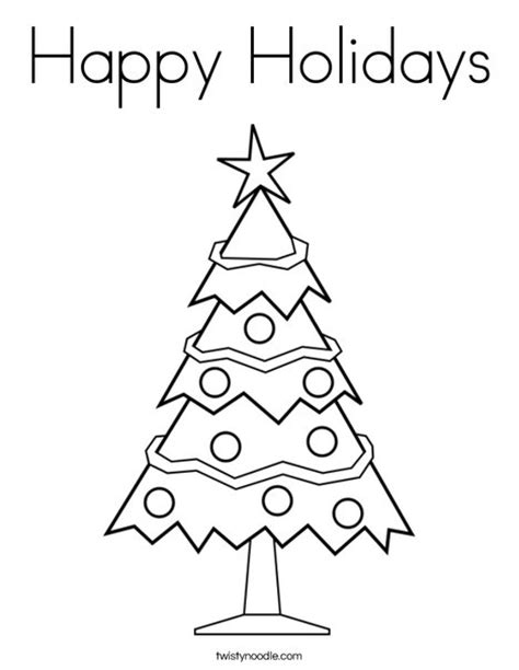 printable coloring pages for holidays happy holidays coloring page twisty noodle