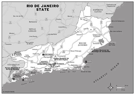 de janeiro map large detailed map of de janeiro state vidiani maps of all countries in one place