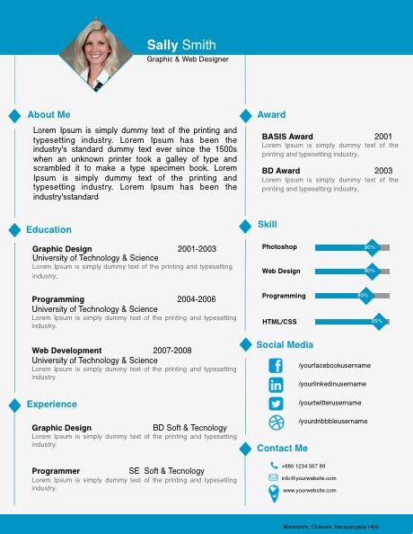 resume free iwork templates one page resume template