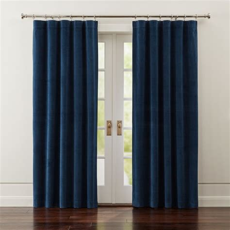 windsor blue velvet curtains crate  barrel