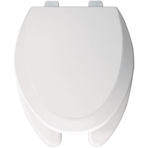 bemis elongated open front toilet seat  white bttt