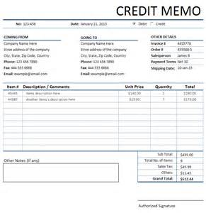 Credit Memo Template by Doc 585670 Credit Memo Sle Credit Memo Template 13