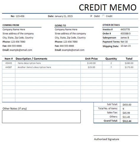 Credit Memo Template Xls 1000 Images About Bills Invoices And Receipts On