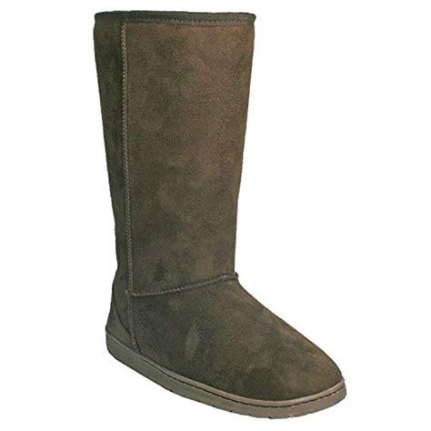 vegan winter boots womens dawgs womens 13 inch microfiber faux shearling vegan