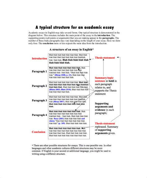 Format Of An Academic Essay by Academic Essay Sle 7 Exles In Word Pdf