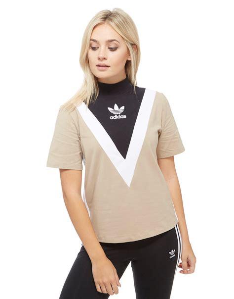 adidas originals high neck chevron t shirt in lyst