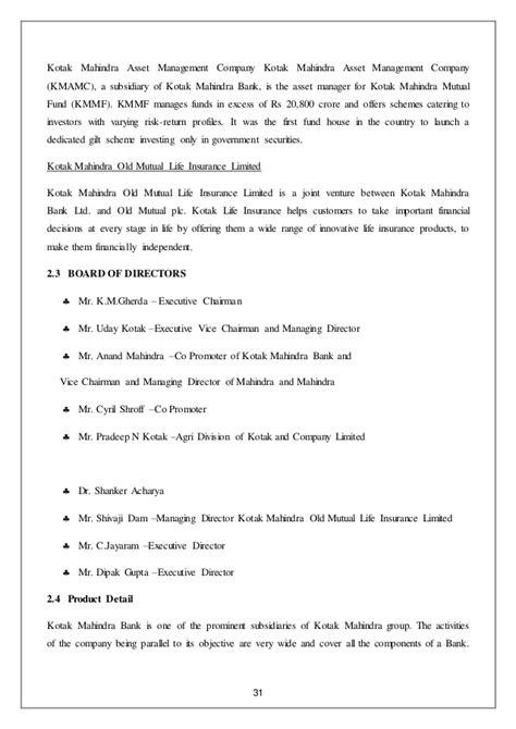 kotak mahindra asset managementpany limited market research customer satisfaction kotak mahindra