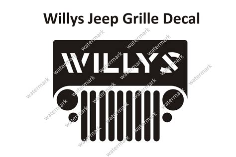 jeep grill sticker jeep grill decal bing images